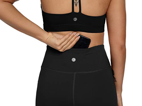 QUEENIEKE Yoga Leggings with Pocket Classic Tummy Control Medium Waist Running Pants Workout Tights for Women(60126) 5