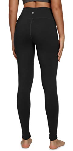 QUEENIEKE Yoga Leggings with Pocket Classic Tummy Control Medium Waist Running Pants Workout Tights for Women(60126) 6