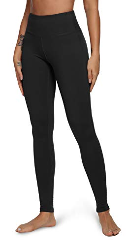 QUEENIEKE Yoga Leggings with Pocket Classic Tummy Control Medium Waist Running Pants Workout Tights for Women(60126) 1