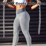 RIOJOY Scrunch Butt Gym Leggings Women 3D Mesh Knitted Bubble Textured Anti-Cellulite Gym Leggings High Waist 19