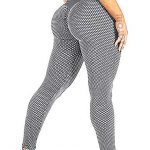 RIOJOY Scrunch Butt Gym Leggings Women 3D Mesh Knitted Bubble Textured Anti-Cellulite Gym Leggings High Waist 17