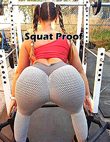 RIOJOY Scrunch Butt Gym Leggings Women 3D Mesh Knitted Bubble Textured Anti-Cellulite Gym Leggings High Waist 6