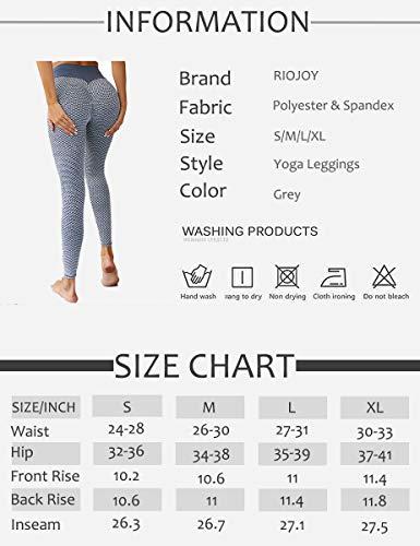 RIOJOY Scrunch Butt Gym Leggings Women 3D Mesh Knitted Bubble Textured Anti-Cellulite Gym Leggings High Waist 8