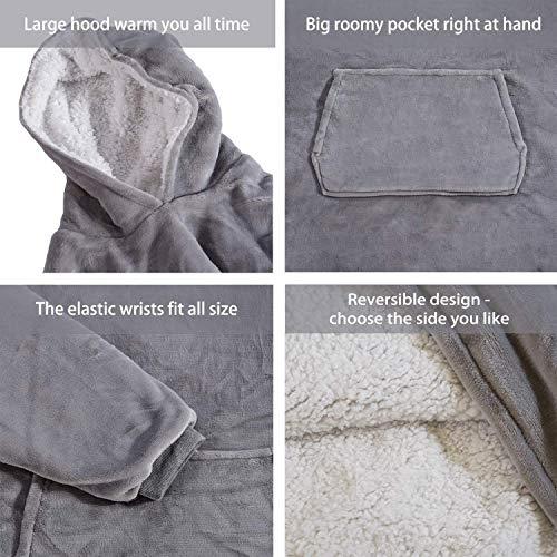 Rancross Huggle Hoodie, Hooded Dress, Spa, Bathrobe, Sweatshirt, Fleece, Pullover, Blanket, Men, Women 3