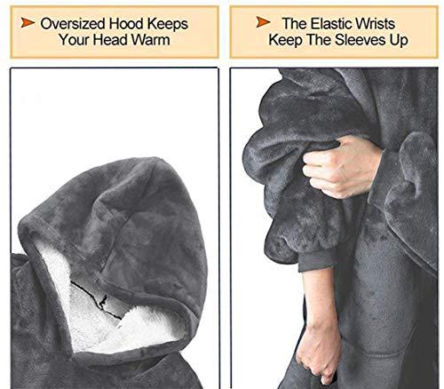 Rancross Huggle Hoodie, Hooded Dress, Spa, Bathrobe, Sweatshirt, Fleece, Pullover, Blanket, Men, Women 4