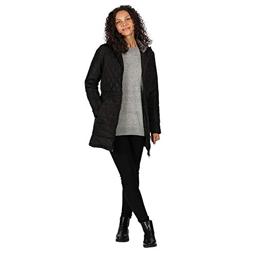 Regatta Women's Parmenia Insulated Quilted Lined Jacket With Fold Down Hood Jacket 3