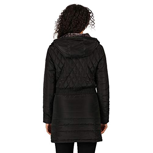 Regatta Women's Parmenia Insulated Quilted Lined Jacket With Fold Down Hood Jacket 5
