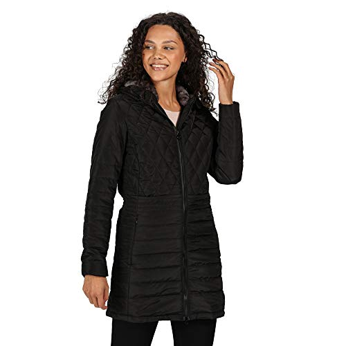 Regatta Women's Parmenia Insulated Quilted Lined Jacket With Fold Down Hood Jacket 1
