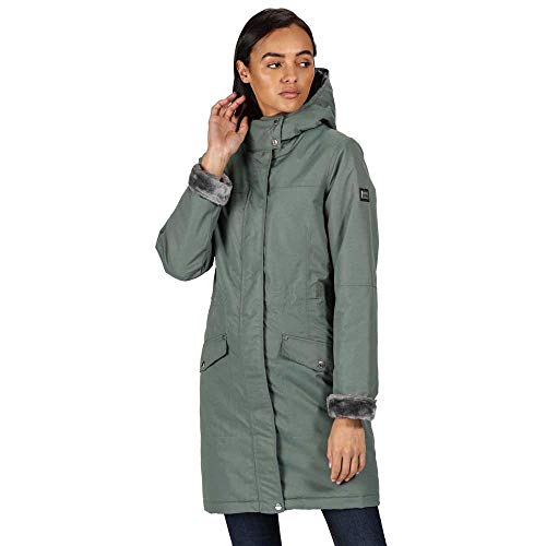 Regatta Women's Rimona Waterproof Breathable Taped Seams Insulated Lined Hooded Jacket Jacket 9