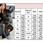 Roiii Women Winter Warm Thick Faux Fur Coat Hood Parka Long Jacket Size 8-20 18