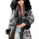 Roiii Women Winter Warm Thick Faux Fur Coat Hood Parka Long Jacket Size 8-20 17