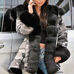 Roiii Women Winter Warm Thick Faux Fur Coat Hood Parka Long Jacket Size 8-20 21