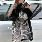 Roiii Women Winter Warm Thick Faux Fur Coat Hood Parka Long Jacket Size 8-20 22