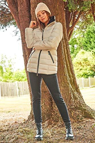 Roman Originals Women Padded Parka Coat Ladies Puffer Quilted Bubble Jacket Autumn Winter Waterproof Rainproof Wind… 5