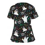 SHINEHUA Women's Holiday Tops Women V Neck Shirts Blouses for Ladies Scrub Tops Women Working Uniform Holiday Xmas… 10