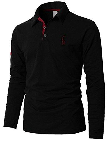 STTLZMC Mens Long Sleeve Giraffe Tennis Polo Shirts 3