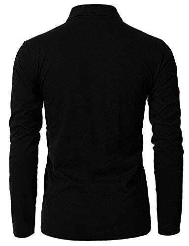 STTLZMC Mens Long Sleeve Giraffe Tennis Polo Shirts 4