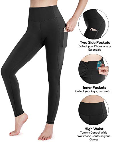 STYLEWORD Womens Leggings Yoga Pants with Pockets High Waist Gym Workout Running Sports Leggings 3