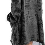 Seogva Oversized Sherpa Hoodie, Wearable Hoodie Sweatshirt Blanket, Super Soft Warm Comfortable Blanket Hoodie, One Size… 12
