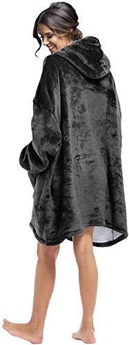 Seogva Oversized Sherpa Hoodie, Wearable Hoodie Sweatshirt Blanket, Super Soft Warm Comfortable Blanket Hoodie, One Size… 4