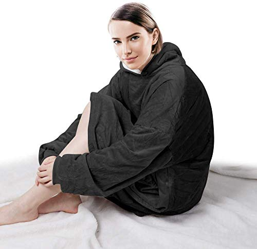 Seogva Oversized Sherpa Hoodie, Wearable Hoodie Sweatshirt Blanket, Super Soft Warm Comfortable Blanket Hoodie, One Size… 5