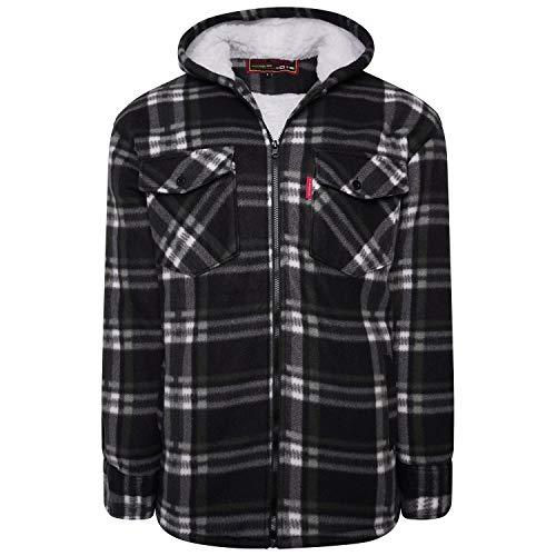 Shop Online Men's Padded Check Shirt Fur Lumberjack Collared Quilted Jacket Warm Thermal Casual Workwear Top Fleece… 1