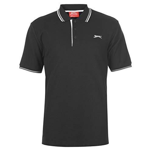 Slazenger Men's Polo Shirt, Short-Sleeved, Striped Details 1