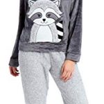 Slumber Hut® Ladies Microfleece Pyjamas Grandad Button Collar Womens Loungewear PJs Pajamas - Grey Navy Blue or Pink… 30
