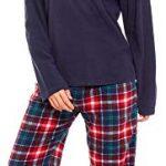 Slumber Hut® Ladies Microfleece Pyjamas Grandad Button Collar Womens Loungewear PJs Pajamas - Grey Navy Blue or Pink… 23