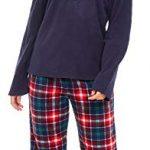 Slumber Hut® Ladies Microfleece Pyjamas Grandad Button Collar Womens Loungewear PJs Pajamas - Grey Navy Blue or Pink… 24