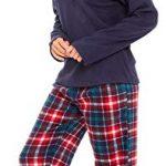 Slumber Hut® Ladies Microfleece Pyjamas Grandad Button Collar Womens Loungewear PJs Pajamas - Grey Navy Blue or Pink… 25