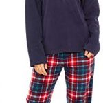 Slumber Hut® Ladies Microfleece Pyjamas Grandad Button Collar Womens Loungewear PJs Pajamas - Grey Navy Blue or Pink… 26