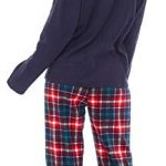 Slumber Hut® Ladies Microfleece Pyjamas Grandad Button Collar Womens Loungewear PJs Pajamas - Grey Navy Blue or Pink… 27