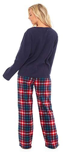 Slumber Hut® Ladies Microfleece Pyjamas Grandad Button Collar Womens Loungewear PJs Pajamas - Grey Navy Blue or Pink… 8