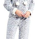 Slumber Hut® Ladies Microfleece Pyjamas Grandad Button Collar Womens Loungewear PJs Pajamas - Grey Navy Blue or Pink… 32