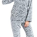 Slumber Hut® Ladies Microfleece Pyjamas Grandad Button Collar Womens Loungewear PJs Pajamas - Grey Navy Blue or Pink… 31