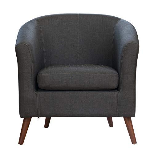 Sofa Collection Pyrenees Fabric Tub Chair (Dark Grey) 1