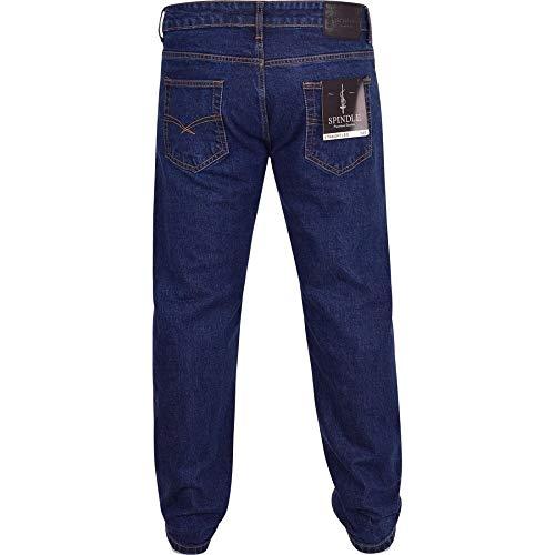 Spindle Mens Heavy Duty Straight Leg Basic Hardwearing 100% Cotton Zip Fly Denim Pants Jeans Sizes 30-48 inch Waist 3