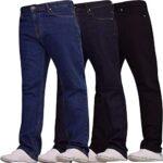 Spindle Mens Heavy Duty Straight Leg Basic Hardwearing 100% Cotton Zip Fly Denim Pants Jeans Sizes 30-48 inch Waist 22