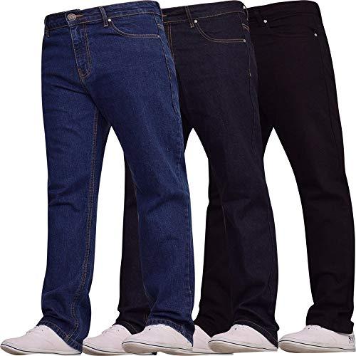 Spindle Mens Heavy Duty Straight Leg Basic Hardwearing 100% Cotton Zip Fly Denim Pants Jeans Sizes 30-48 inch Waist 5