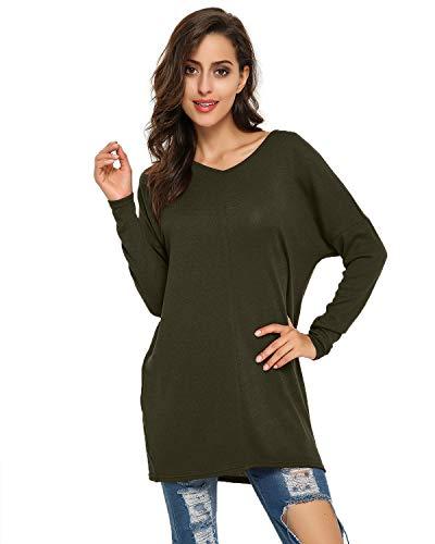 Style Dome Womens Oversized Jumper Dress V Neck Pullover Long Sleeve Knitwear Knit Sweater Plus Size Sweatshirt Tunic… 4
