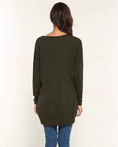 Style Dome Womens Oversized Jumper Dress V Neck Pullover Long Sleeve Knitwear Knit Sweater Plus Size Sweatshirt Tunic… 5