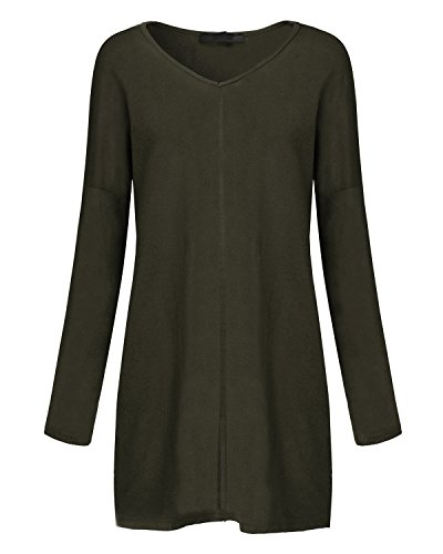 Style Dome Womens Oversized Jumper Dress V Neck Pullover Long Sleeve Knitwear Knit Sweater Plus Size Sweatshirt Tunic… 6