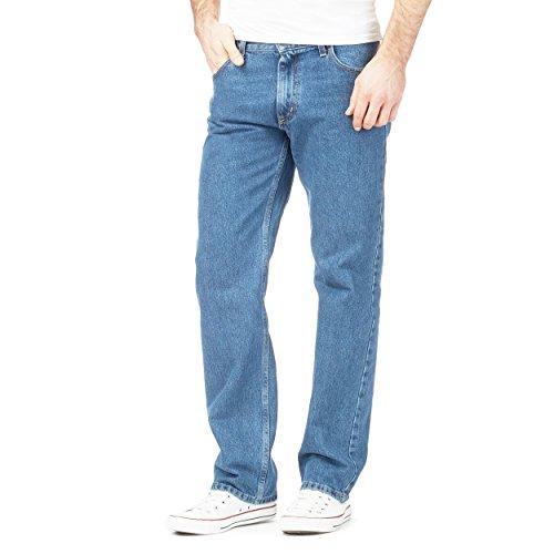 Style Spot Men's Straight Leg Heavy Duty Cotton Jeans Casual Classic Trouser Zip Fly Belt Loop Pant Plain Denim Wash… 1