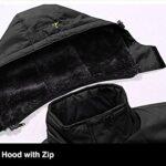 TACVASEN Men's Waterproof Fleece Mountain Jacket Windproof Warm Ski Jacket Multi-Pockets 18