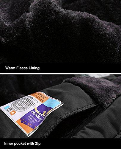 TACVASEN Men's Waterproof Fleece Mountain Jacket Windproof Warm Ski Jacket Multi-Pockets 4