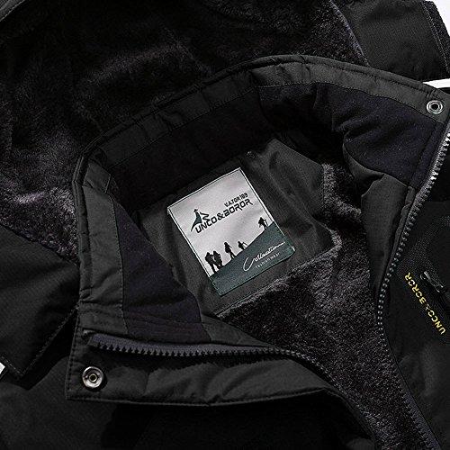 TACVASEN Men's Waterproof Fleece Mountain Jacket Windproof Warm Ski Jacket Multi-Pockets 5