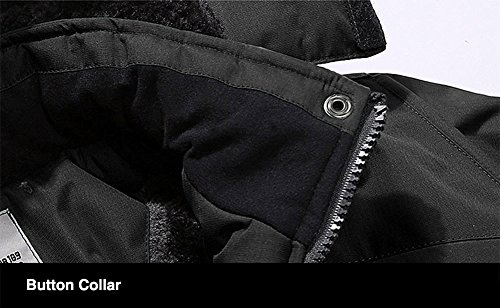TACVASEN Men's Waterproof Fleece Mountain Jacket Windproof Warm Ski Jacket Multi-Pockets 6