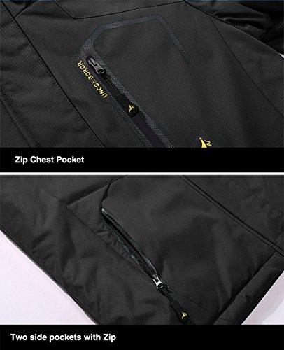 TACVASEN Men's Waterproof Fleece Mountain Jacket Windproof Warm Ski Jacket Multi-Pockets 7