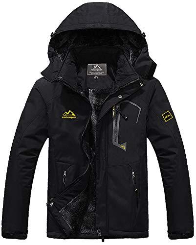 TACVASEN Men's Waterproof Fleece Mountain Jacket Windproof Warm Ski Jacket Multi-Pockets 1